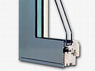Wooden and aluminum windows