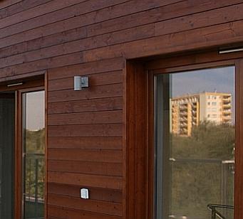 Wooden elevation, soffit board